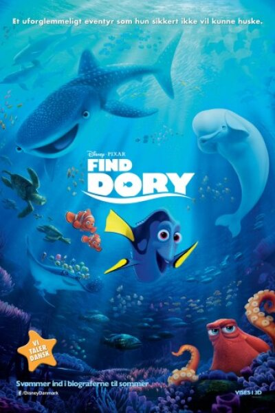Pixar Animation Studios - Find Dory - dansk tale - 3 D