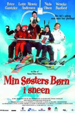 Min søsters børn i sneen